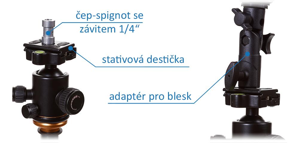 uchycení softboxu ke stativu